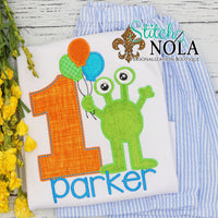 Personalized Birthday Monster Appliqué Shirt