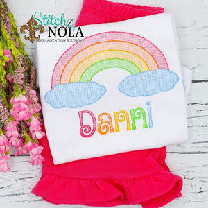 Personalized Rainbow Sketch Shirt