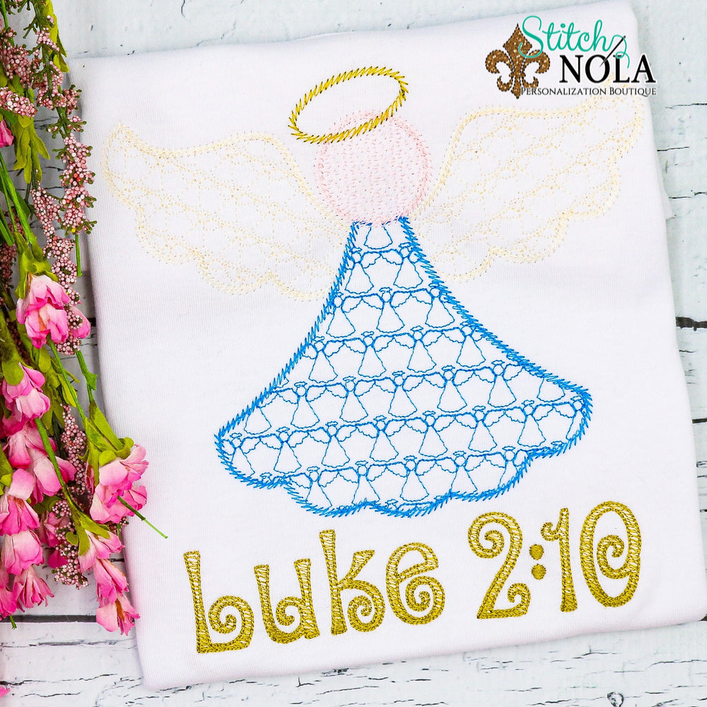 Personalized Christmas Angel Luke 2:10 Sketch Shirt