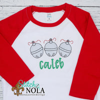 Personalized Christmas Jingle Bells Trio Sketch Shirt