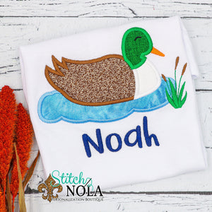 Personalized Mallard Duck Applique Shirt