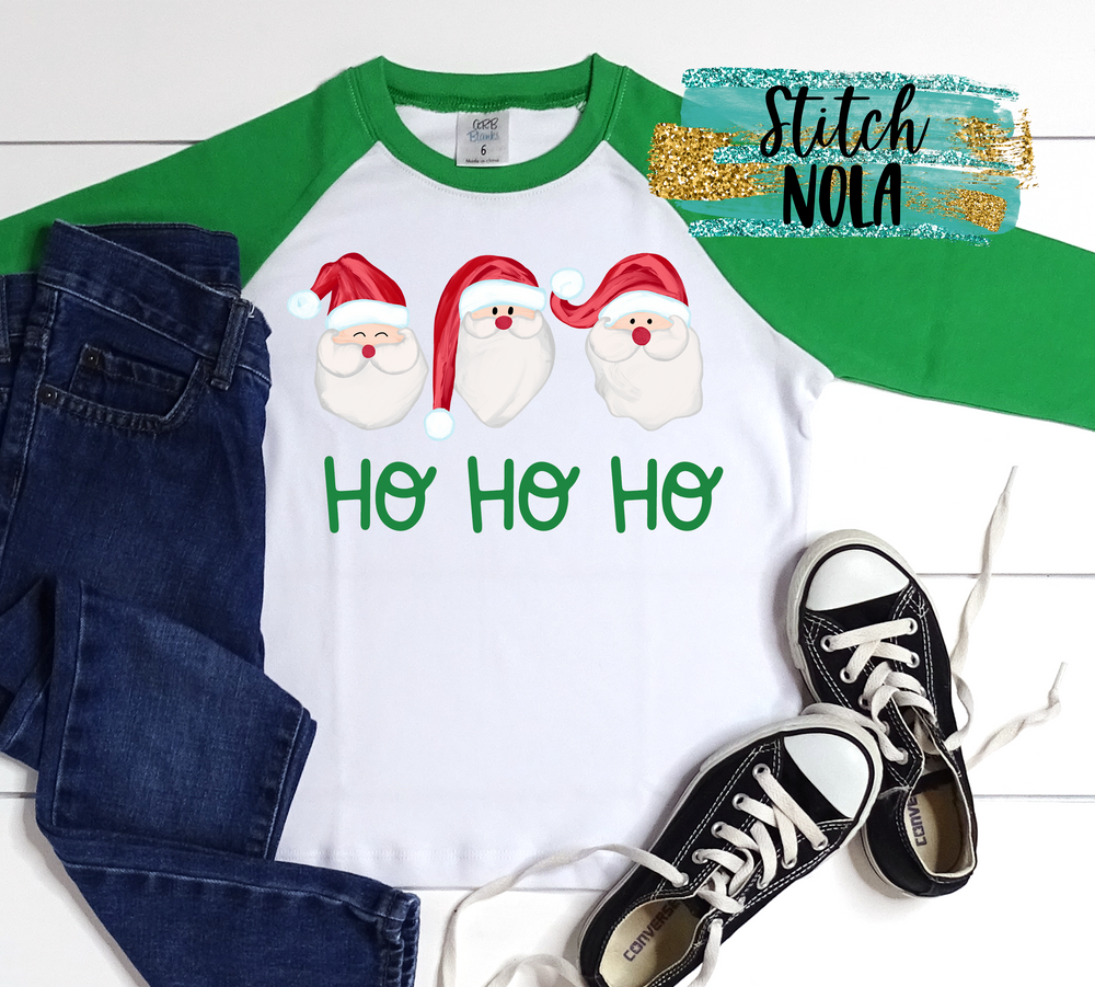 Personalized Santa Trio Printed Shirt