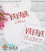 Personalized Crawfish Bunch Sketch Shirt
