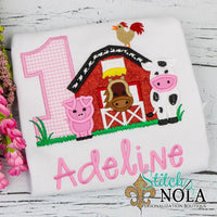 Personalized Birthday Farm Appliqué Shirt