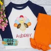 Personalized Girl Turkey Printed Shirt