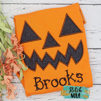 Personalized Jack-o-lantern on Colored Garment
