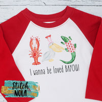 Adult I wanna be loved Bayou Printed Tee