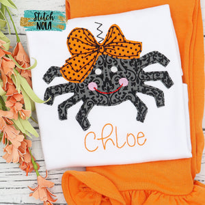 Personalized Halloween Spider Appliqué Shirt