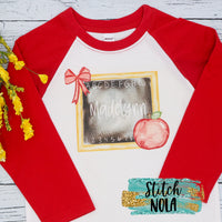 Personalized Chalkboard Printed Shirt