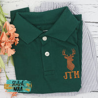 Personalized Deer Hunting Collared Shirt