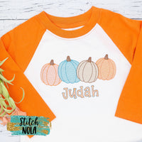 Personalized Pumpkin Patch Bunch Sketch Shirt