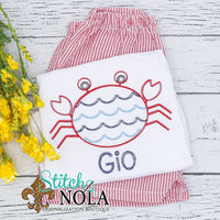 Personalized Scalloped Vintage Crab Shirt