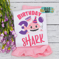 Baby Shark Birthday Printed Shirt
