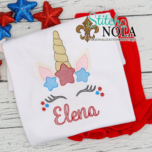Personalized Patriotic Unicorn Sketch Shirt