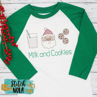 Personalized Milk and Cookies Sketch Shirt