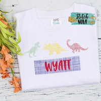 Personalized Dinosaur Trio Printed Shirt