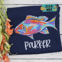 Personalized Colorful Fish Printed Shirt