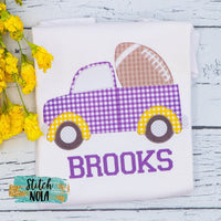 Personalized Purple & Gold Truck Printed Shirt