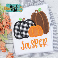 Personalized Pumpkin Trio Applique Shirt