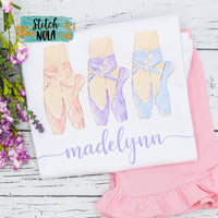 Personalized Ballet Slipper Trio Printed Shirt