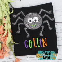 Personalized Spider on Colored Garment