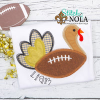 Personalized Football Turkey Applique Shirt