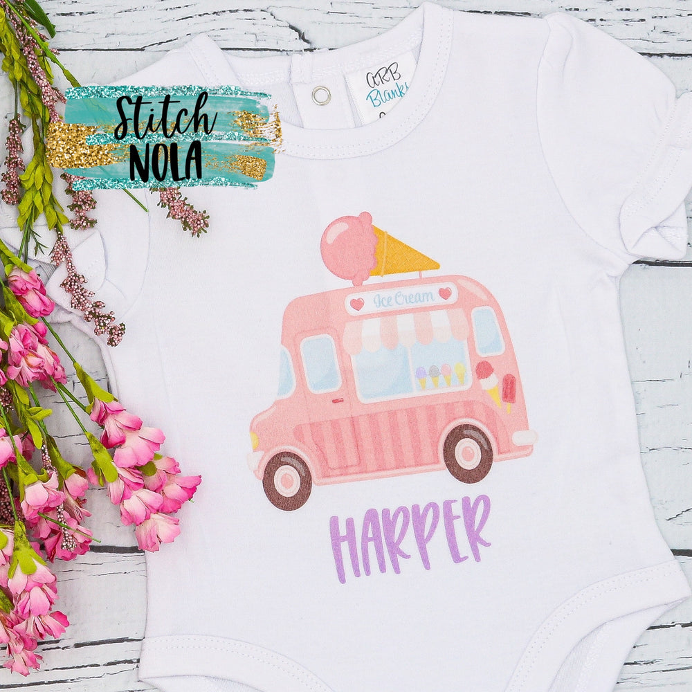 Personalized Ice Cream Truck Printed Shirt