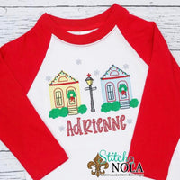 Personalized Christmas in New Orleans Sketch Shirt