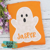 Personalized Ghost on Colored Garment