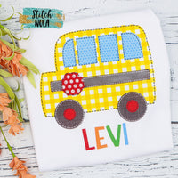 Personalized School Bus Printed Shirt