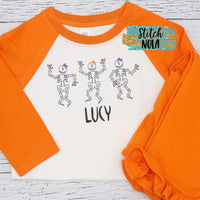 Personalized Skeleton Trio Printed Shirt