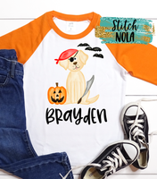 Personalized Dog Pirate Printed Shirt