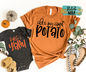 My Sweet Potato I Yam PRINTED Shirt, Mommy & Me