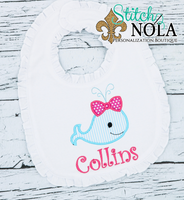 Personalized Baby Whale Applique Shirt
