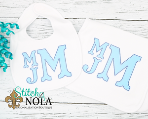 Personalized Baby Monogram Applique Shirt