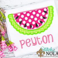 Personalized Pink Watermelon Applique Shirt