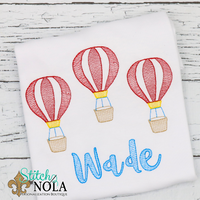 Personalized Hot Air Balloon Trio Sketch Shirt