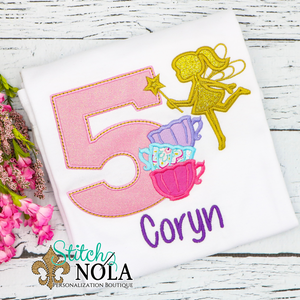 Personalized Birthday Fairy Appliqué Shirt