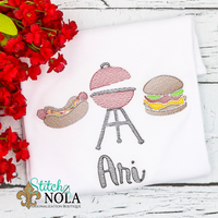 Personalized BBQ Trio Sketch Shirt