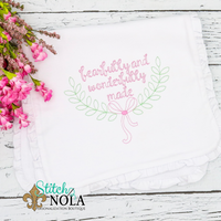 Personalized Fearfully & Wonderfully Made with Laurel Wreath Shirt