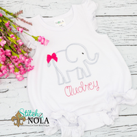 Personalized Baby Elephant Sketch Shirt