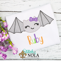 Personalized Halloween Bat Sketch Shirt