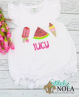 Personalized Summer Trio Sketch Shirt