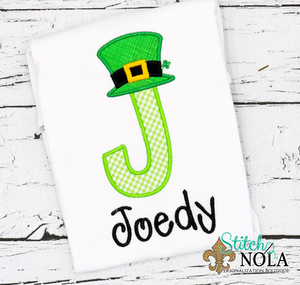 Personalized St. Patrick's Day Alpha Appliqué Shirt