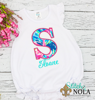 Personalized Lilly Pulitzer Alpha Applique Shirt