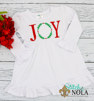 Personalized Christmas Joy Wreath Sketch Shirt