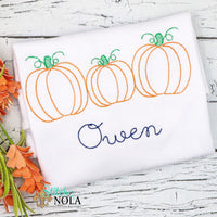 Personalized Vintage Pumpkin Trio Shirt