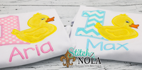 Personalized Birthday Duck Appliqué Shirt