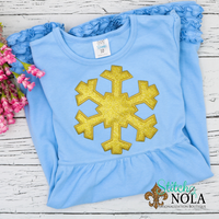 Personalized Christmas Snowflake Applique Colored Garment