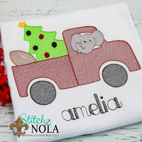 Personalized Christmas Alabama Truck Sketch Shirt